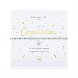 Joma Jewellery A Little CONGRATULATIONS Silver Plated Beaded Bracelet